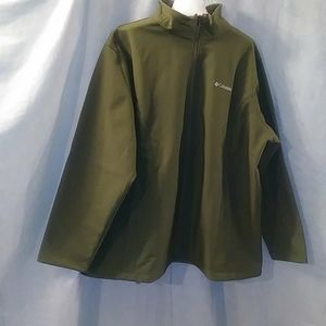 Columbia green zipper jacket